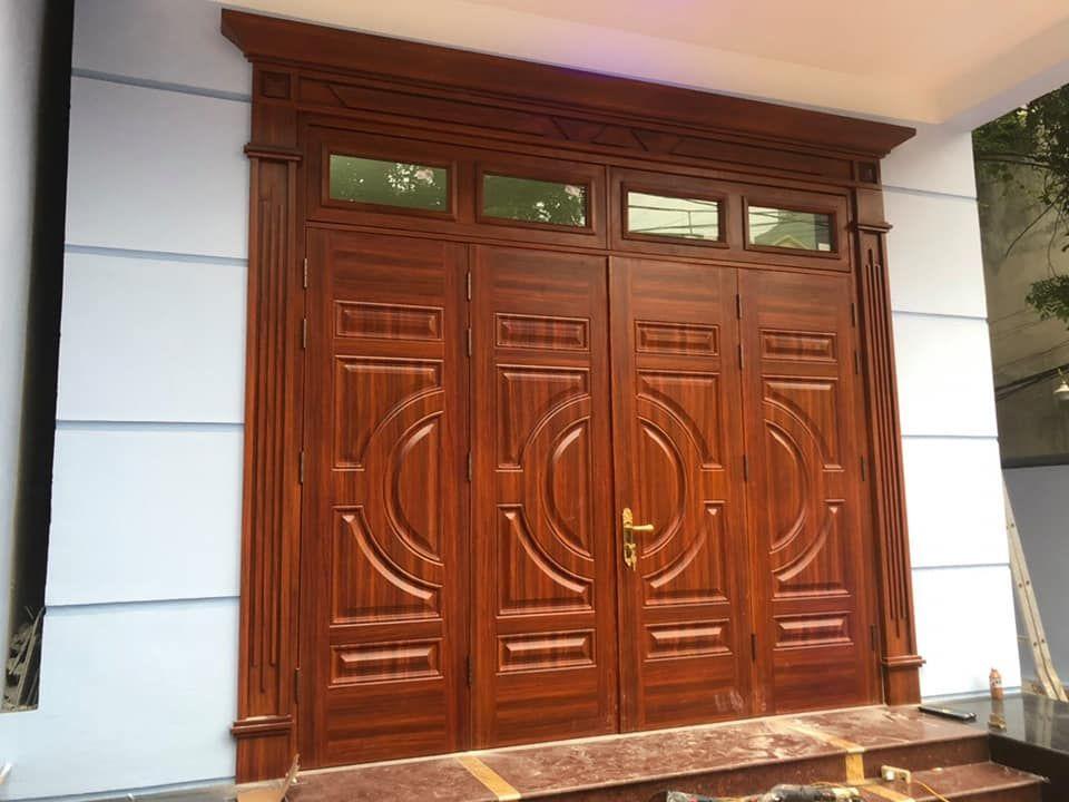 cửa sắt giả vân gỗ cao cấp